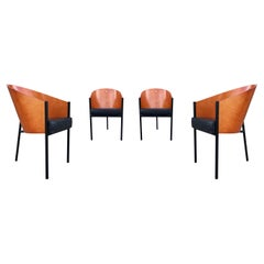 Set of Four Mid-Century Modern Dining Chairs by Philippe Starck for Driade