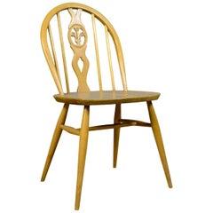 Set of Four Mid-Century Modern Dining Chairs, English, Beech, Danish Taste