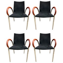 Set of Four Mid-Century Modern Made in Italy Dining Chairs