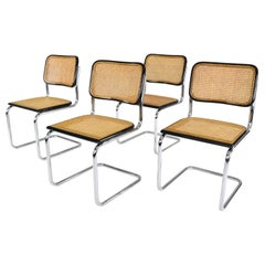 Set of four Mid-Century Modern Marcel Breuer B32 Cesca Chairs, Italy, 1970s