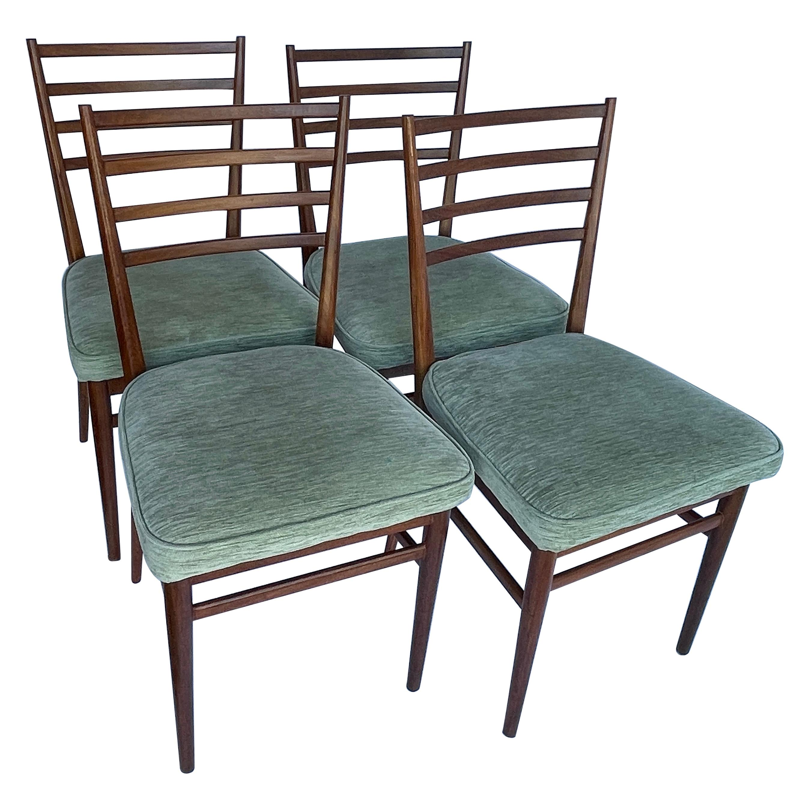 Set of Four Mid-Century Modern Meredew Teak Dining Chairs