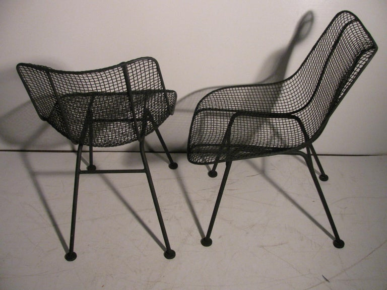 Set of Four Mid-Century Modern Sculptura Iron Chairs by Russell Woodard For Sale 4