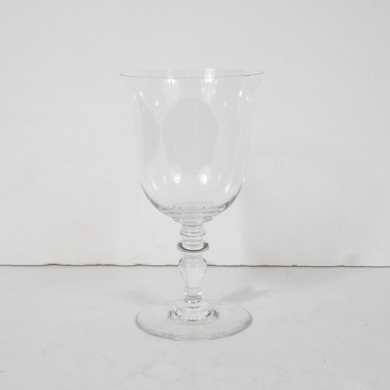French Set of Four Mid-Century Modern Signed Baccarat Crystal Glasses For Sale