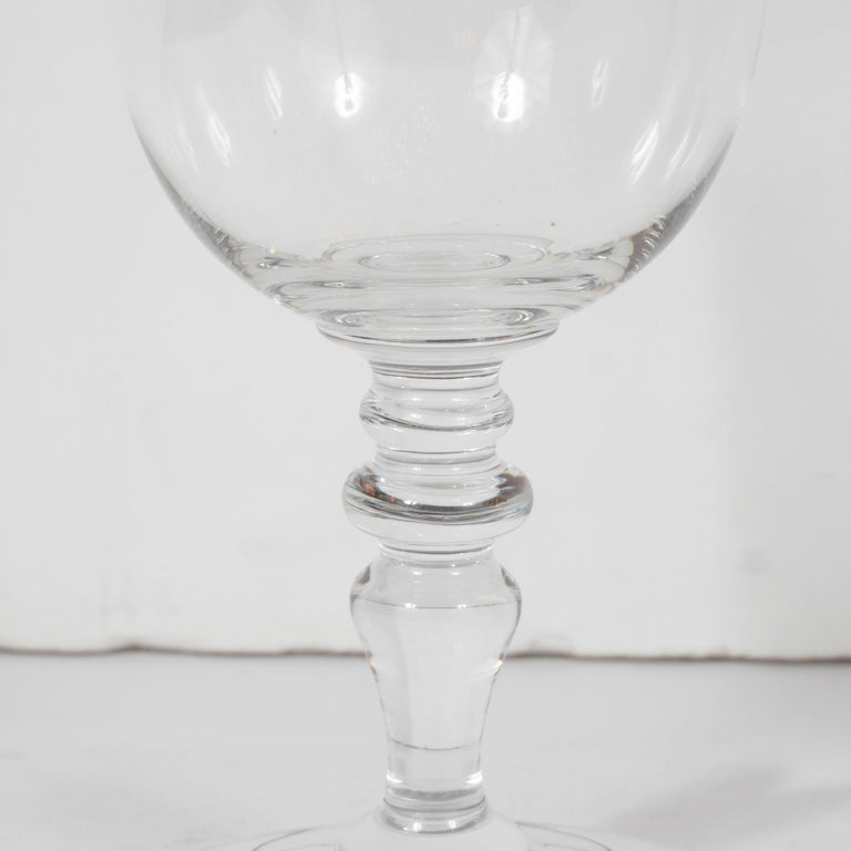Mid-20th Century Set of Four Mid-Century Modern Signed Baccarat Crystal Glasses For Sale