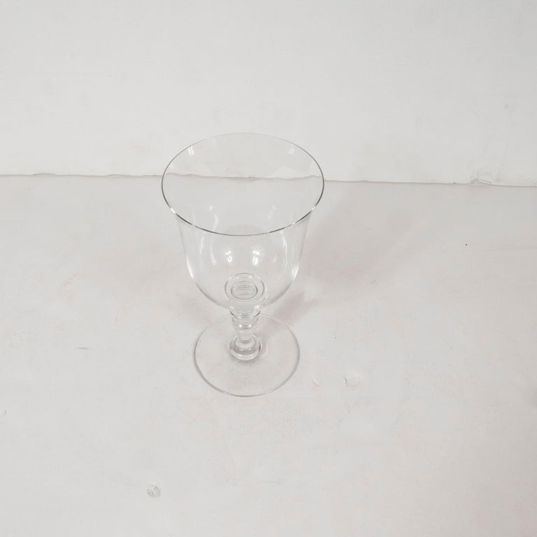 Set of Four Mid-Century Modern Signed Baccarat Crystal Glasses For Sale 2