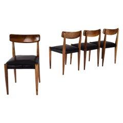 Set of Four Midcentury Scandinavian Modern Danish Oak Dining Chairs, 1950s