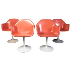 Set of Four Mid-Century Tulip Chairs