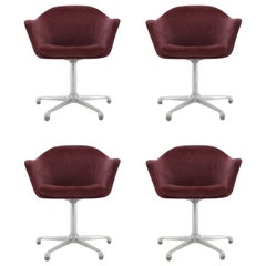 Set of Four Midcentury Armchairs Designed by Konrad Schäfer, Lübke, 1960s
