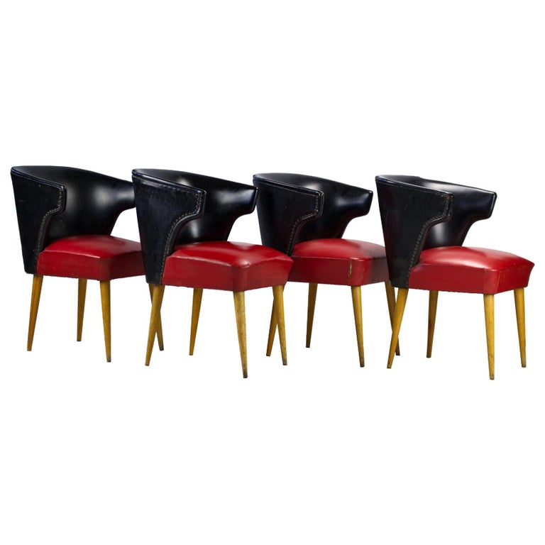 Set of Four Midcentury Chairs, 1960s For Sale