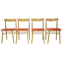Set of Four Midcentury Design Dining Chairs, Czechoslovakia, 1970s