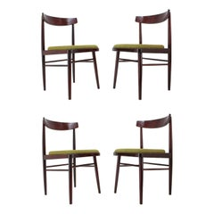 Set of Four Midcentury Dining Chairs, 1970s