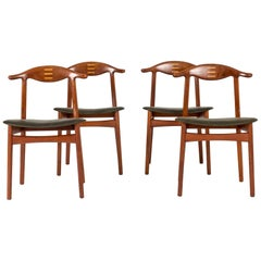 Set of Four Midcentury Dining Chairs by Knud Færch