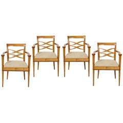 Set of Four Midcentury French Batistin Spade Chairs