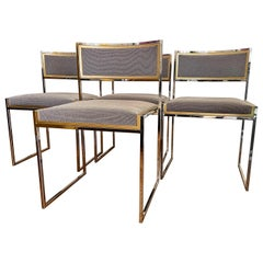 Set of Four Midcentury Italian Brass and Chrome by Willy Rizzo