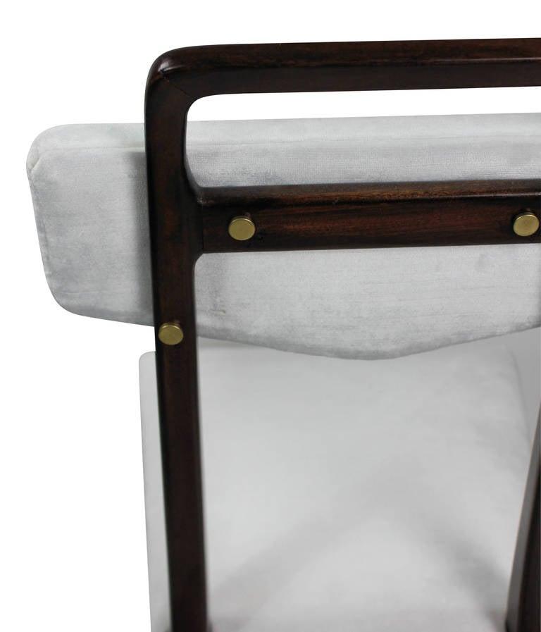 Beech Set of Four Midcentury Italian Kitchen Chairs