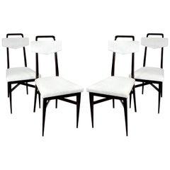 Set of Four Midcentury Italian Kitchen Chairs
