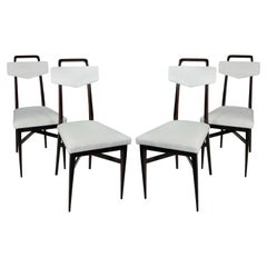 Set of Four Midcentury Italian Kitchen Chairs