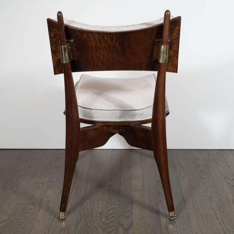 Set of Four Midcentury Klismos Game Chairs by Harold Schwartz for Romweber For Sale 3