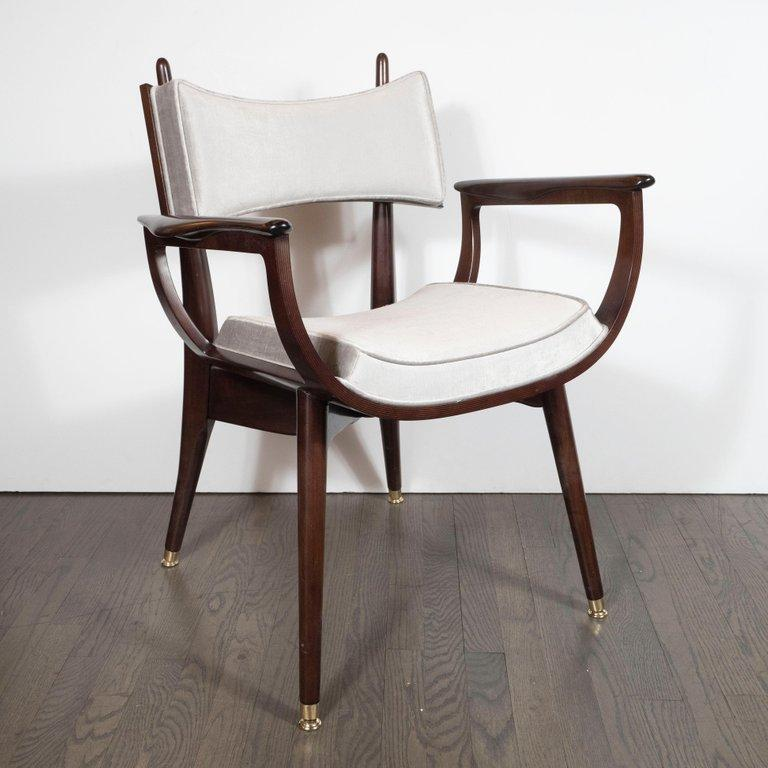 Set of Four Midcentury Klismos Game Chairs by Harold Schwartz for Romweber For Sale 4