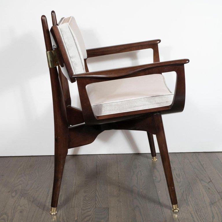 Set of Four Midcentury Klismos Game Chairs by Harold Schwartz for Romweber For Sale 5