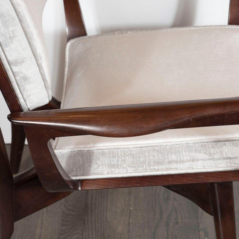 Set of Four Midcentury Klismos Game Chairs by Harold Schwartz for Romweber For Sale 6