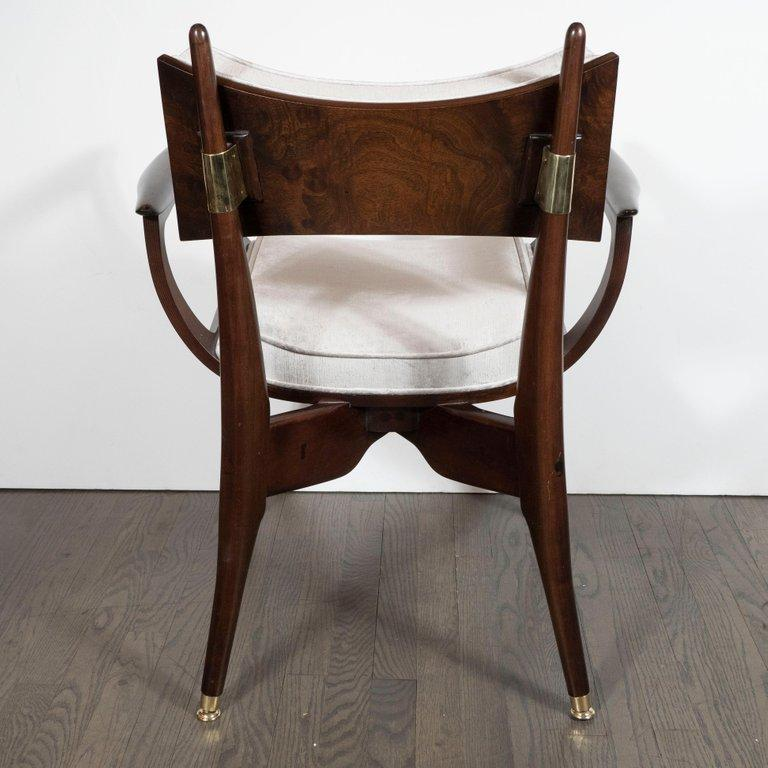 Set of Four Midcentury Klismos Game Chairs by Harold Schwartz for Romweber For Sale 7