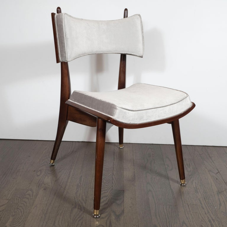 American Set of Four Midcentury Klismos Game Chairs by Harold Schwartz for Romweber For Sale