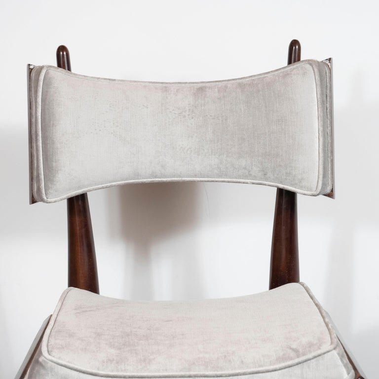 Mid-20th Century Set of Four Midcentury Klismos Game Chairs by Harold Schwartz for Romweber For Sale