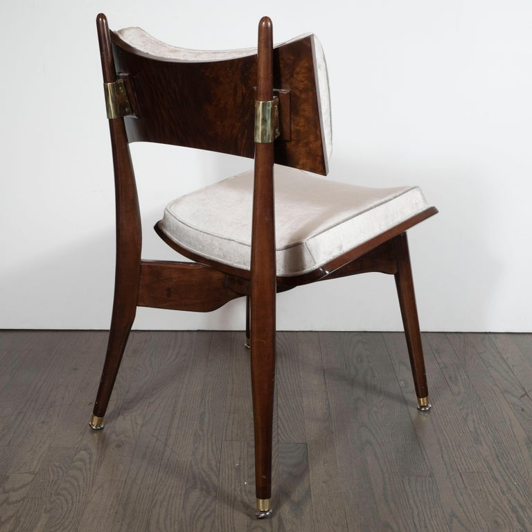 Set of Four Midcentury Klismos Game Chairs by Harold Schwartz for Romweber For Sale 2