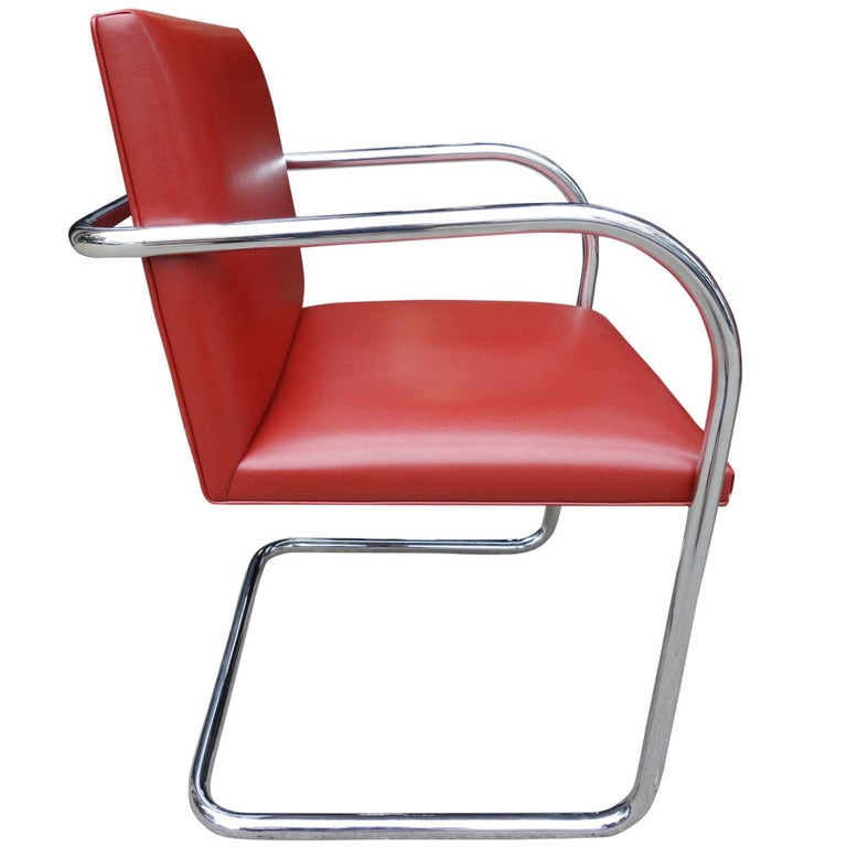 Mid-Century Modern Set of Four Midcentury Knoll Brno Chairs by Mies van der Rohe For Sale