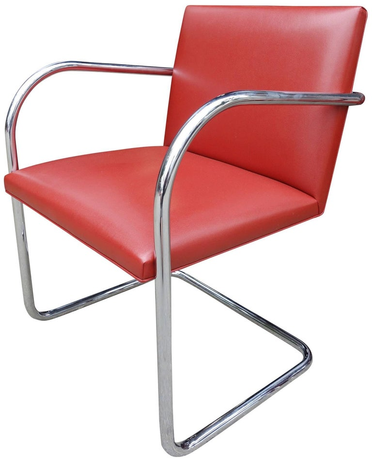 North American Set of Four Midcentury Knoll Brno Chairs by Mies van der Rohe For Sale
