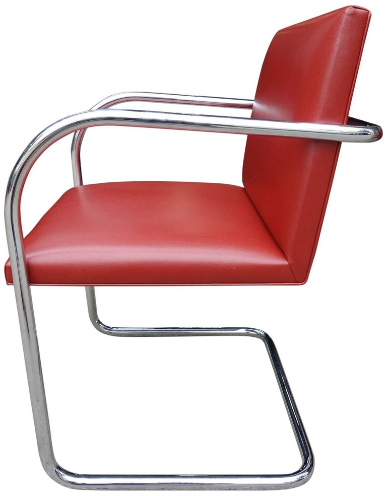 20th Century Set of Four Midcentury Knoll Brno Chairs by Mies van der Rohe For Sale