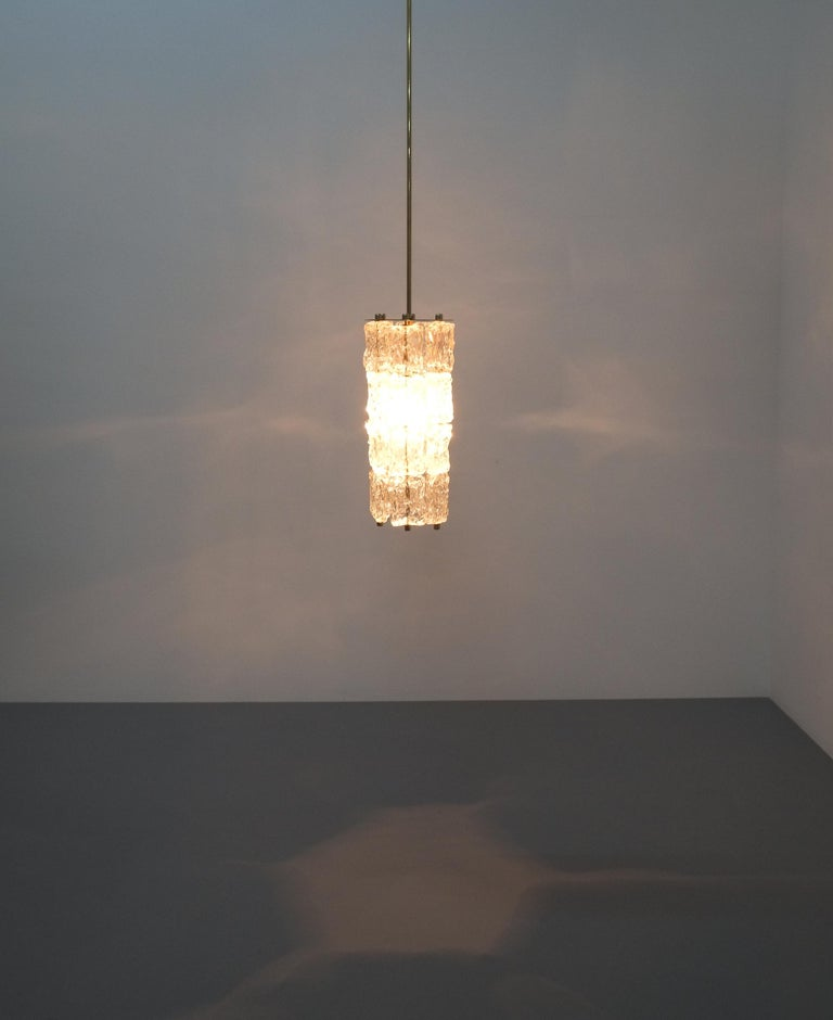 Set of Four Midcentury Murano Glass Pendant Lamps by Barovier Toso, Italy For Sale 5