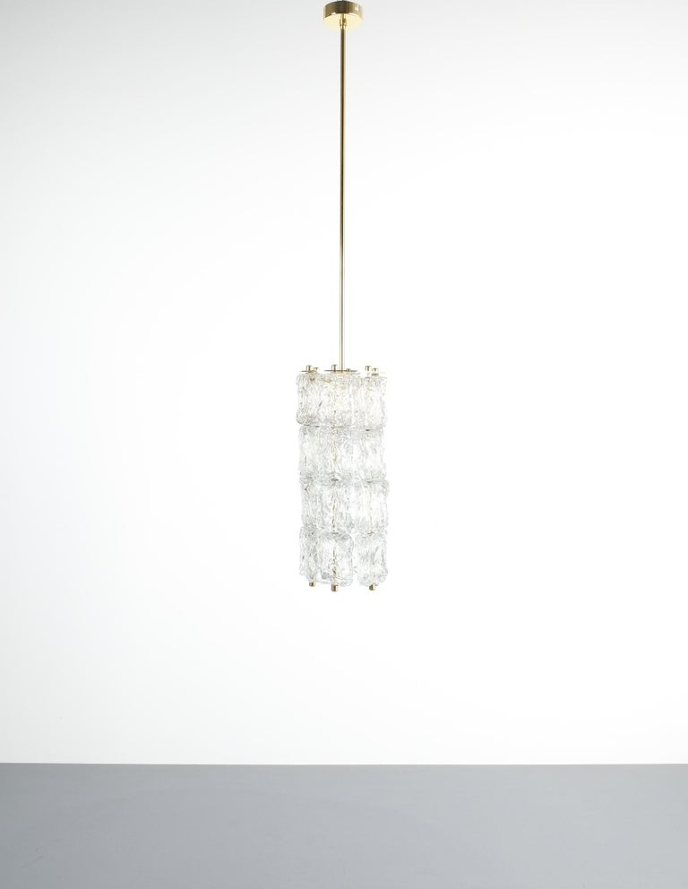 Set of Four Midcentury Murano Glass Pendant Lamps by Barovier Toso, Italy For Sale 6