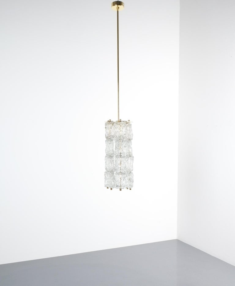Mid-Century Modern Set of Four Midcentury Murano Glass Pendant Lamps by Barovier Toso, Italy For Sale