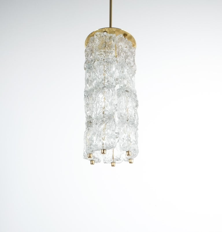 Italian Set of Four Midcentury Murano Glass Pendant Lamps by Barovier Toso, Italy For Sale