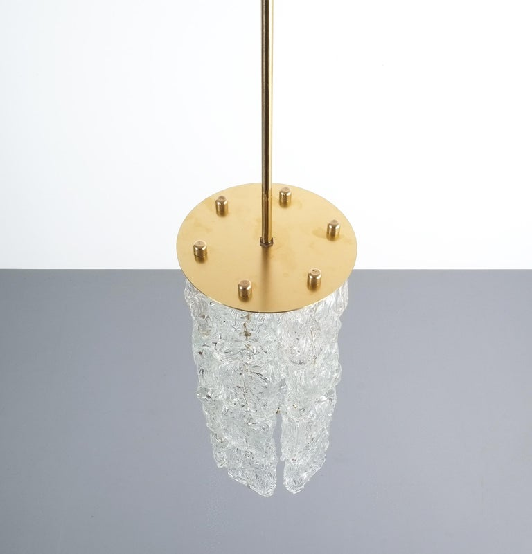 Mid-20th Century Set of Four Midcentury Murano Glass Pendant Lamps by Barovier Toso, Italy For Sale