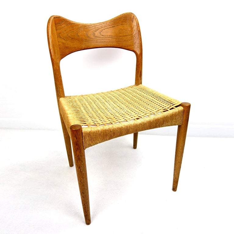 Set of four Midcentury Scandinavian Dining Chairs 71 by Niels O. Moller In Good Condition For Sale In Doornspijk, NL