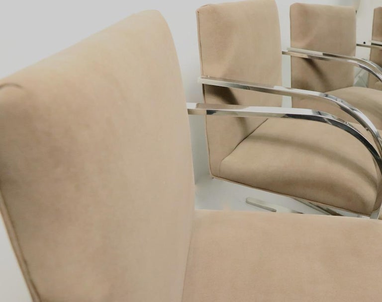 Set of Four Mies Van Der Rohe Brno Chairs for Brueton For Sale 3