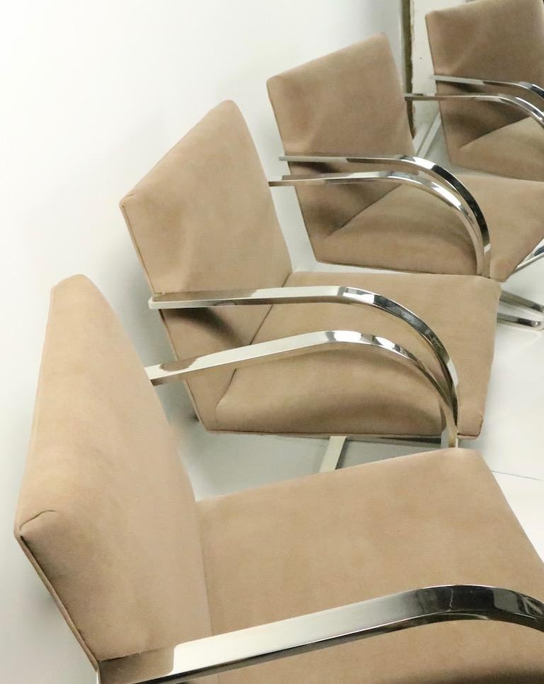 Set of Four Mies Van Der Rohe Brno Chairs for Brueton For Sale 4