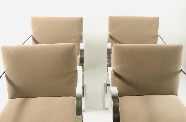 Set of Four Mies Van Der Rohe Brno Chairs for Brueton In Good Condition For Sale In New York, NY