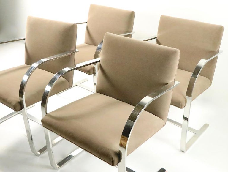 20th Century Set of Four Mies Van Der Rohe Brno Chairs for Brueton For Sale