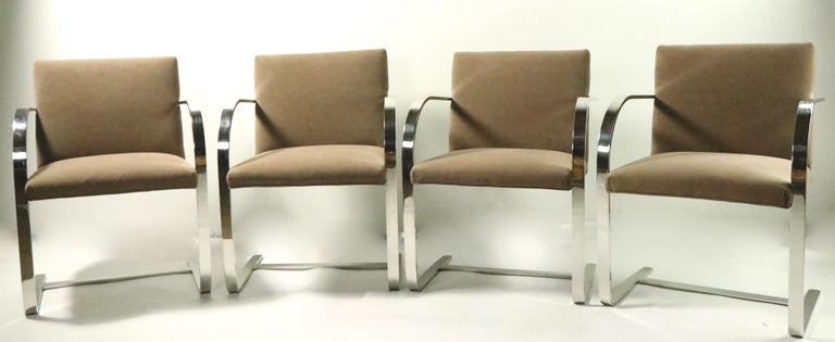 Set of Four Mies Van Der Rohe Brno Chairs for Brueton For Sale 1
