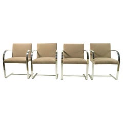Set of Four Mies Van Der Rohe Brno Chairs for Brueton