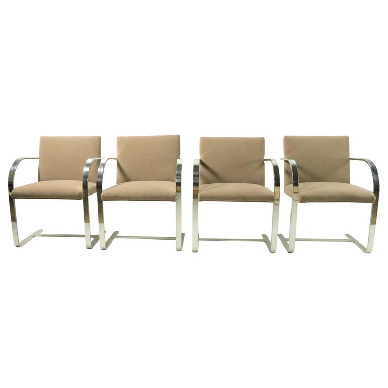 Set of Four Mies Van Der Rohe Brno Chairs for Brueton For Sale