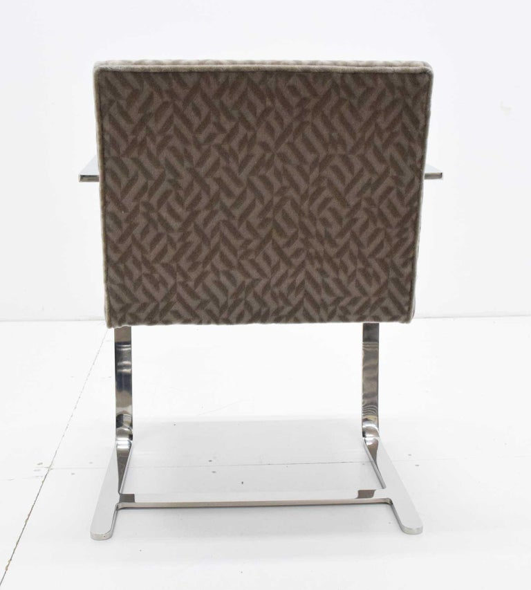 Set of Four Mies van der Rohe Brno Chairs in Mohair In Good Condition For Sale In Dallas, TX