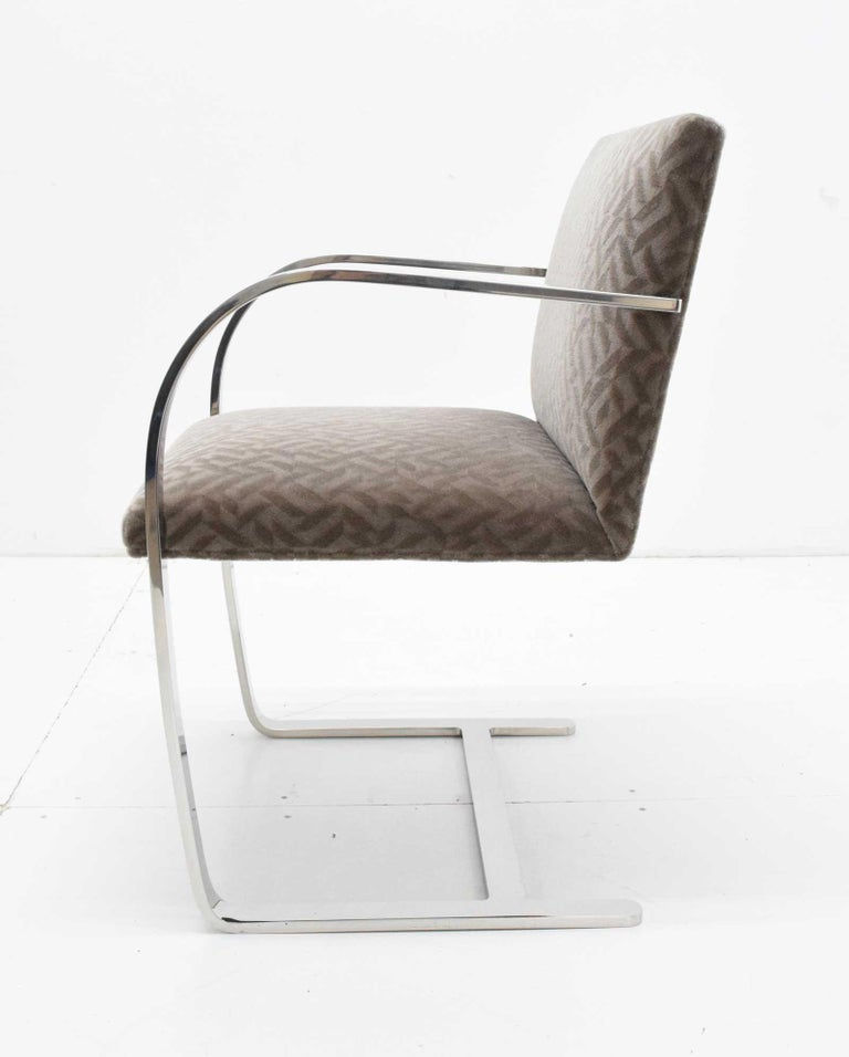 20th Century Set of Four Mies van der Rohe Brno Chairs in Mohair For Sale