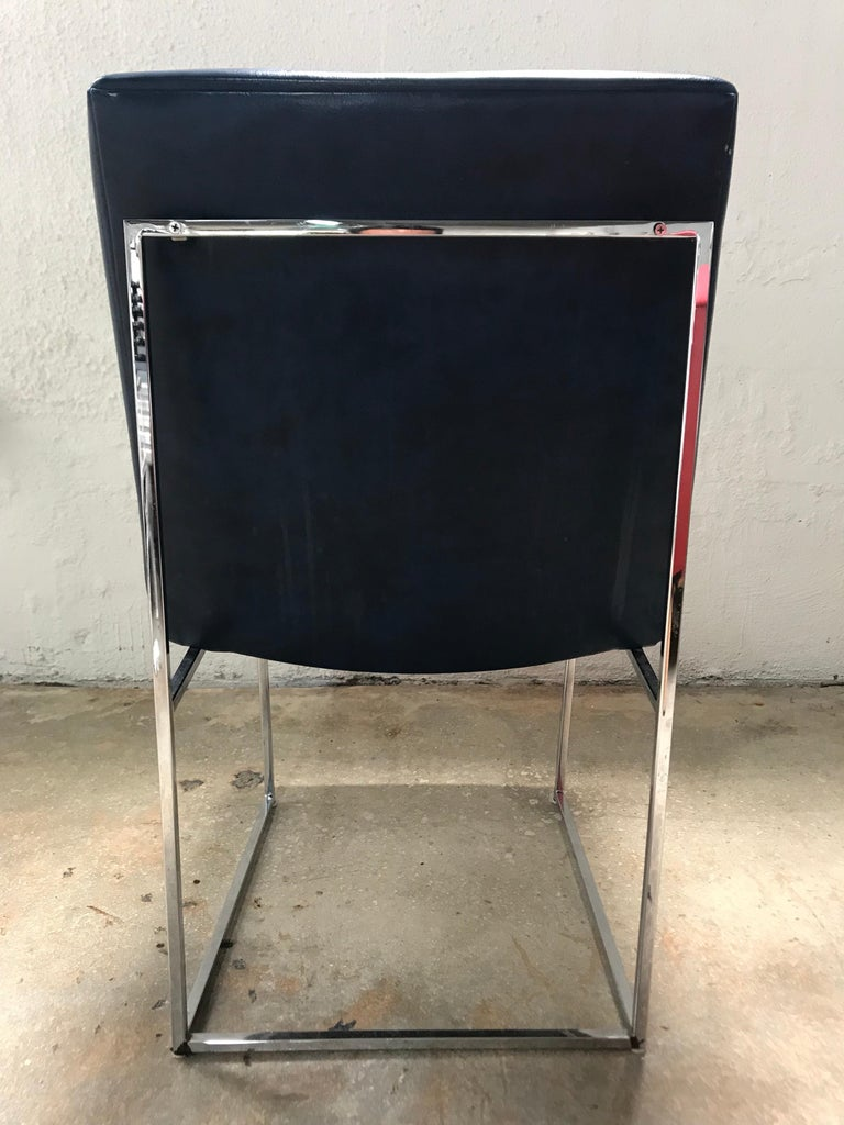 American Set of four Milo Baughman Thin-Line Dining Chairs For Sale