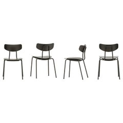 Set of Four Moca Chairs in Plywood and Metal Designed by Jasper Morrison