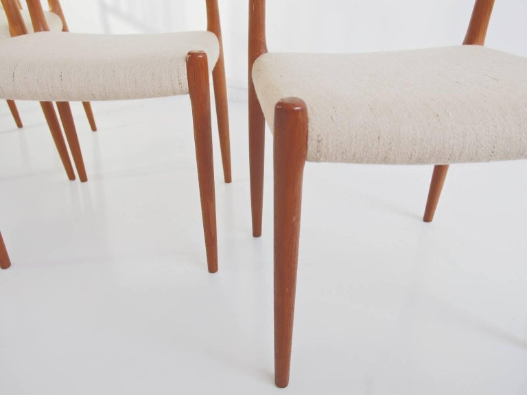 20th Century Set of Four Model 83 Niels Otto Møller Teak Chairs For Sale